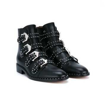 Givenchy Prue Leather Biker Boots - Browns - Farfetch.com