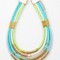 Turquoise & Gold Layered Necklace