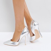 Glamorous Silver Heeled Pumps at asos.com
