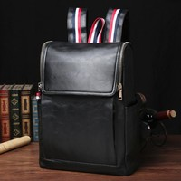 Men 0312 Travel Leather Backpack