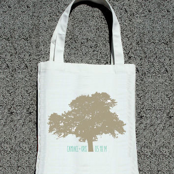 Modern Wedding Tree Personalized Totes - Wedding Welcome Tote Bag