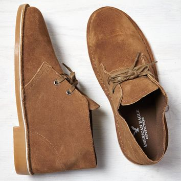 AEO Suede Desert Boot, Tan | American Eagle Outfitters