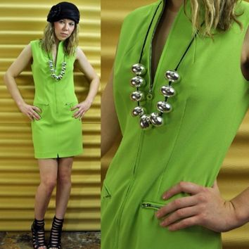 80s dress MOD DRESS mod mini dress sheath by rockstreetvintage