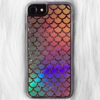 HOLO MERMAID SCALES GLITTER PHONE CASE