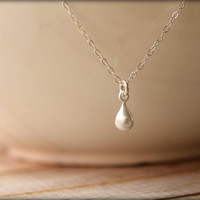 Simple Teardrop Necklace in Sterling Silver