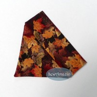 Dark Autumn Maple Leaves Over-the-Collar Bandana, XSmall