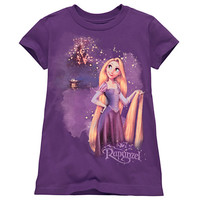 Nighttime Tangled Rapunzel Tee for Girls