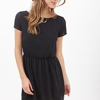 FOREVER 21 Lace Trim Dress Black
