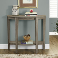 "Dark Taupe Reclaimed-Look 36""L Console Accent Table"
