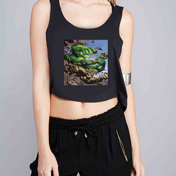marvel hulk 12 for Crop Tank Girls S, M, L, XL, XXL *07*