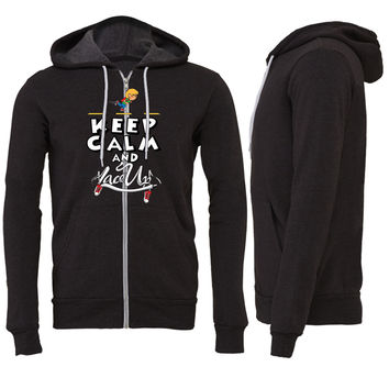 keep calm and lace up Zipper Hoodie