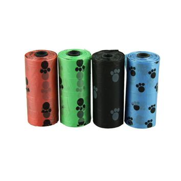 Super Deal random color 22*31cm 10Roll=150PCS Degradable Pet Dog Waste Poop Bag With Printing Doggy Bag free shipping&364
