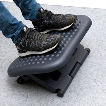Mind Reader 3 Position Adjustable Height Ergonomic Foot Rest , Black - Walmart.com