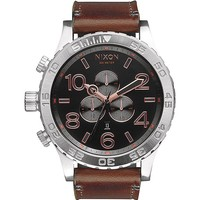 Nixon The 51-30 Chrono Leather Watch - Mens Watches - Gray/Rose Gold - NOSZ