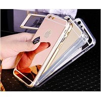 Fashion Luxury Mirror Soft TPU Phone Case For iPhone XS Max XS XR X 4 4S 5 5S SE 6 6S Plus 7 Plus 8 Plus Back Cover Capa Shell