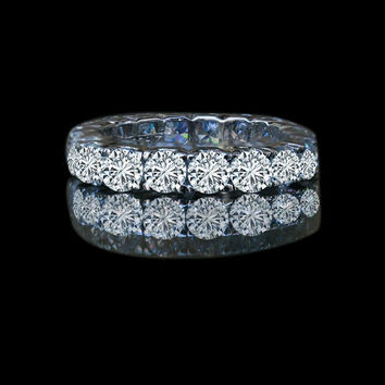 4.5 ct tw (3.75 mm) round prong set all around classic eternity band  635R103