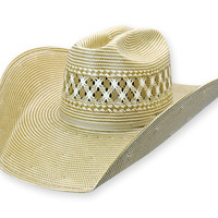 1044 Brown Two-Tone Straw | Shorty's Hattery - Custom Western Cowboy Hats - Hat Restoration > Product Information