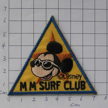 SALE~ 2 pcs Iron-on Embroidered Patch Summer Mickey 2.9 inch