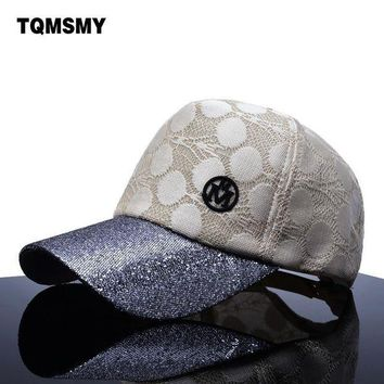 DCCKWJ7 TQMSMY brand Sun Hats For Women Baseball Cap Men Snapback Caps Sequins Bone women's hip hop cap Golfs bone casual hat Gorras