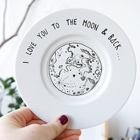 'I Love You To The Moon And Back' Ring Plate