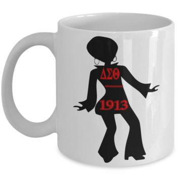 Delta Sigma Theta Dancer Ceramic Coffee Mug