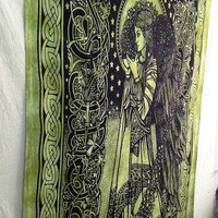 Magic girl Tapestry Hippie Hippy Wall Hanging Tapestry Indian Tapestry Throw Bedspread Bedcover Ethnic Decorative Art Indian Wall Hanging