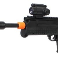 Spring Silenced Bullpup Desin Spring Rifle FPS-320 Flashlight Airsoft Gun Good Quality Rifle INCLUDES FREE SILENCER!
