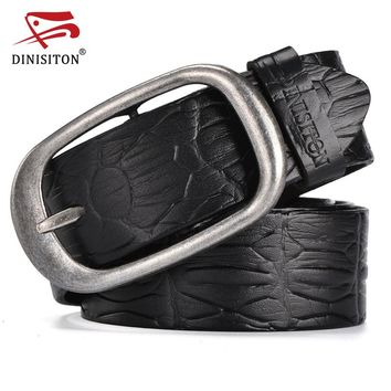 New Fashion Belts For Men Genuine Leather Belt Man High Quality Designer Crocodile Strap  Cincture Home