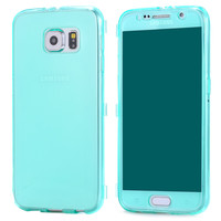 Ultra Thin Case Cover For Samsung Galaxy S6 G9200 Touch Screen Transparent Clear Slim Silicon Case Flip TPU Case For Samsung S6