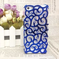 Sparking Rhinestone Flower Hollow Out Case For Iphone 4/4s/5