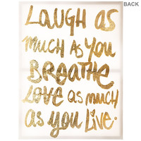 Laugh & Love Much Canvas Art | Hobby Lobby