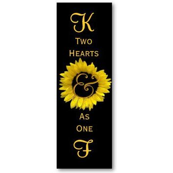 Yellow Sunflower Wedding Favors or Wedding Inserts You Personalize