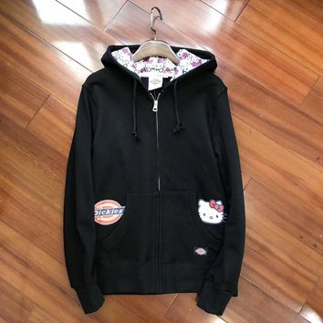 Dickies HelloKitty Women Fashion Hooded Cardigan Jacket Coat-3