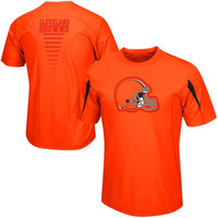 Cleveland Browns Majestic Fanfare VII Synthetic Cool Base T-Shirt – Orange