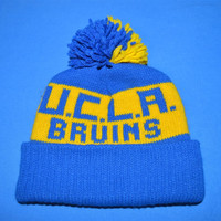 80s UCLA Bruins Bobble Winter Hat