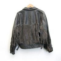 Aerosmith Fringed Leather Jacket