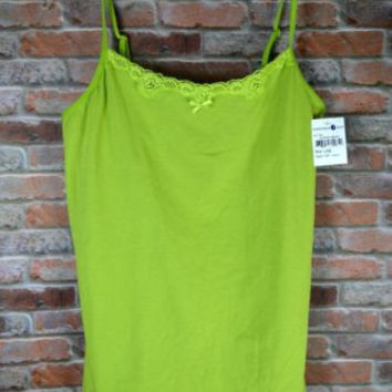 "Nordstom ""Steve"" Tank with Shelf Bra Size Large New with Tag Green"