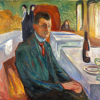 Edvard Munch - Self Portrait With A Bottle Of Wine