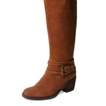 Seychelles Women's Geometric Oiled Suede Boot - Brown -