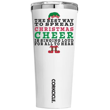 Corkcicle 24 oz Best Way to Spread Christmas Cheer on White Tumbler