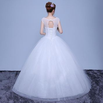 Layers Customized Lace Appliques Wedding dresses Bridal Ball Gown Sequin Tulle Wedding