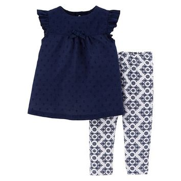 Just One You™Made by Carter's® Newborn Girls' 2 Piece Legging Set - Navy