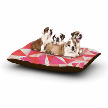 "MaJoBV ""Stitched Pieces"" Red Pink Dog Bed"