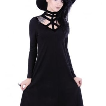 Restyle Futuristic Gothic Tunic Dress | Attitude Clothing