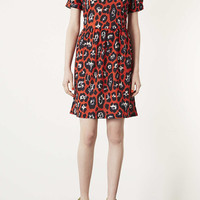 Tall Red Leopard Mini Dress - New In This Week - New In - Topshop USA
