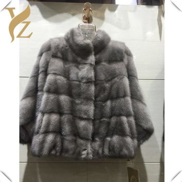 Creative Design Real Fur Natural Mink Fur Coat For Women High Quality Warm Winter Clothes Full Pelt Mink Coat Jackets Plus Size