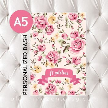 Personalized A5 Planner Dashboard - Madeline