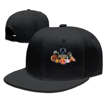 Angry Birds Star Wars Poster Cotton Unisex Adult Womens Fitted Hats Mens Baseball Cap