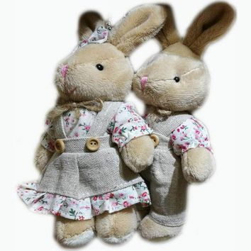 High Quality Super Cute Couple Teddy Bears in Skirt Plush Toys Stuffed Dolls 1 Pair 11cm plush bear