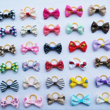 40pcs/lot Cute Hair Bows For Small Dogs Hand-made Pet Hair Accessories Hairpin Dog Grooming Accessories Boutique 30 Colors